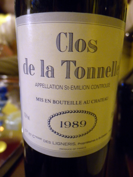 Clos de la Tournelle 1989
