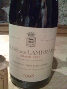 Clos des Lambrays Grand Cru 1998