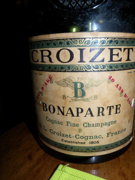 Cognac Fine champagne Bonaparte de Croizet 40 ans d'âge