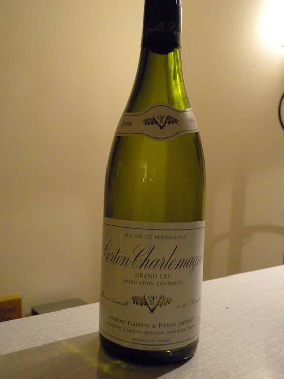 Corton-Charlemagne Grand Cru 1996 Domaine Gaston & Ravaut