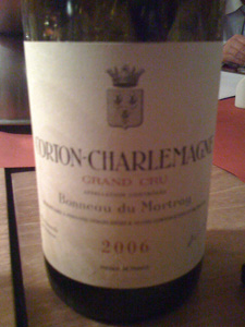 Corton-Charlemagne grand cru 2006 de Bonneau de Martray