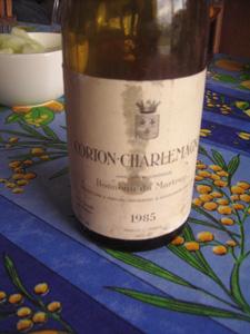 Corton-charlemagne Bonneau du Martray 1985