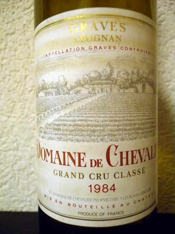 Domaine de Chevalier blanc 1984