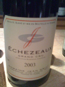 Echezeaux Grand Cru 2003 du domaine Jean Grivot