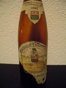 Eiswein  Steinberg 1962 de Weingut gros plan