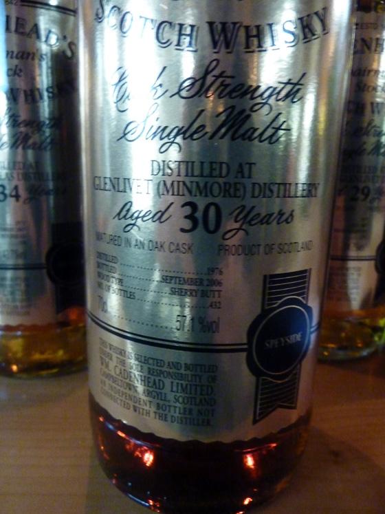 Glenlivet Cadenhead's Chairman stock 30 y