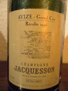 Jacquesson Avize Grand Cru 1996 étiquette