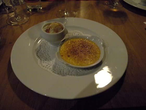 La truffe en crème brûlée et la truffe en glace