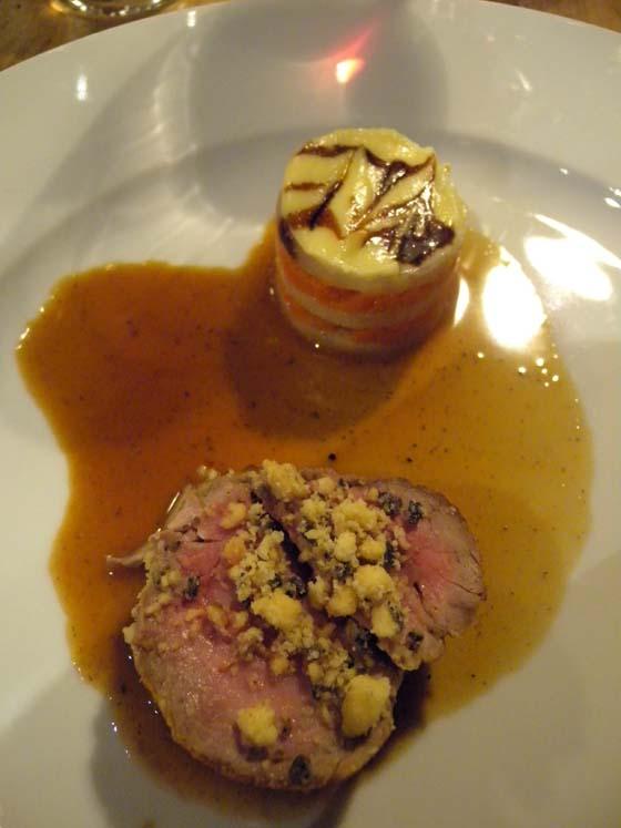 La truffe en rosette de veau et crumble