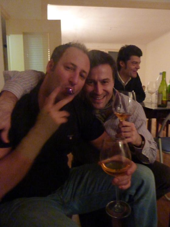 Laurent et Benjamin pendant la dégustation du Dom Pérignon