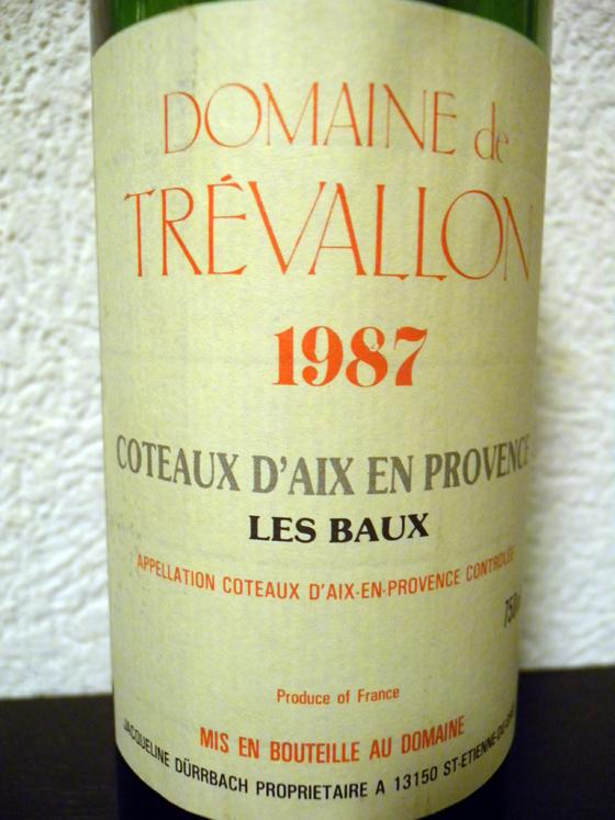 Les Baux 1987 Domaine de Trevallon