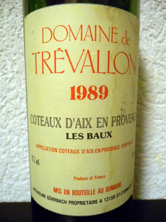 Les Baux 1989 Domaine de Trevallon