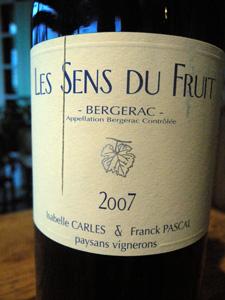 Les Sens du Fruit 2007 d'Isabelle Carles & Franck Pascal