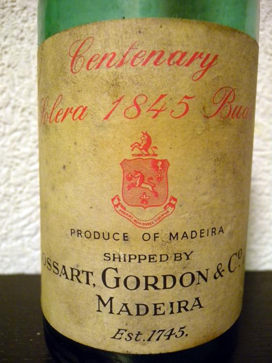 Madeira Centenary Solera 1845 Bual de Cossart Gordon & Co