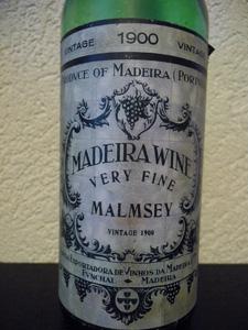 MadeiraWine Malmsey vintage 1900