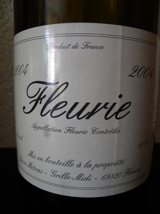 Magnum de Fleurie 2004 d'Yvon Métras
