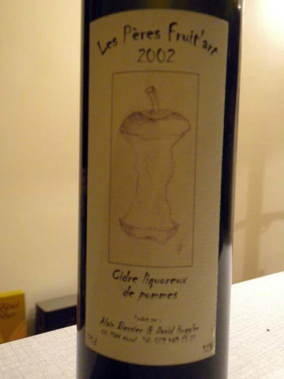 Magnum de cidre liquoreux de pomme 2002 Les Pères Fruit'art