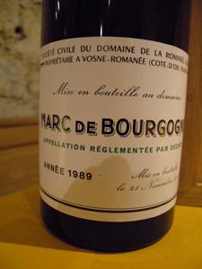 Marc de Bourgogne DRC 1989