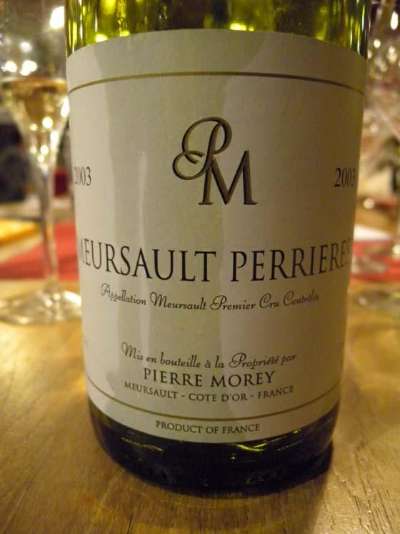 Meursault 1er cru Perrières 2003 de Pierre Morey