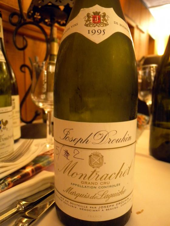 Montrachet Grand Cru 1995 du Marquis de Laguiche (Drouhin)