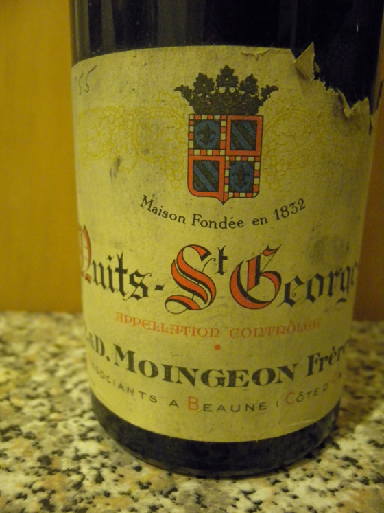Nuits St Georges 1955