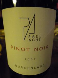 Pinot noir 2007 Paul Achs