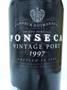 Porto Fonseca vintage port 1997 étiquette