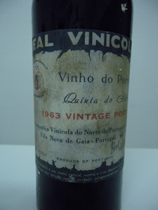 Porto Real Vinicola Quinta de Gibio 1963 étiquette