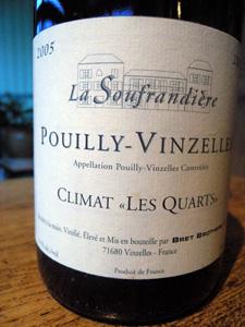 Pouilly-Vinzelles Climat Les Quarts 2005 des Bret Brothers