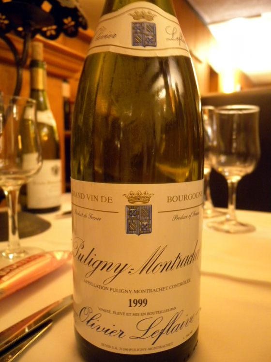Puligny-Montrachet 1999 d'Olivier Leflaive