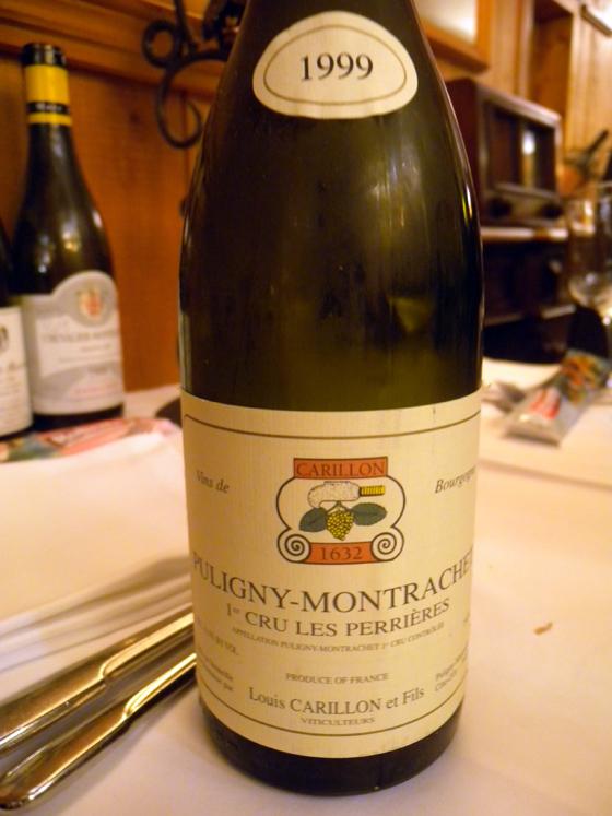 Puligny-Montrachet 1er cru Les Perrières 1999 de Louis Carillon
