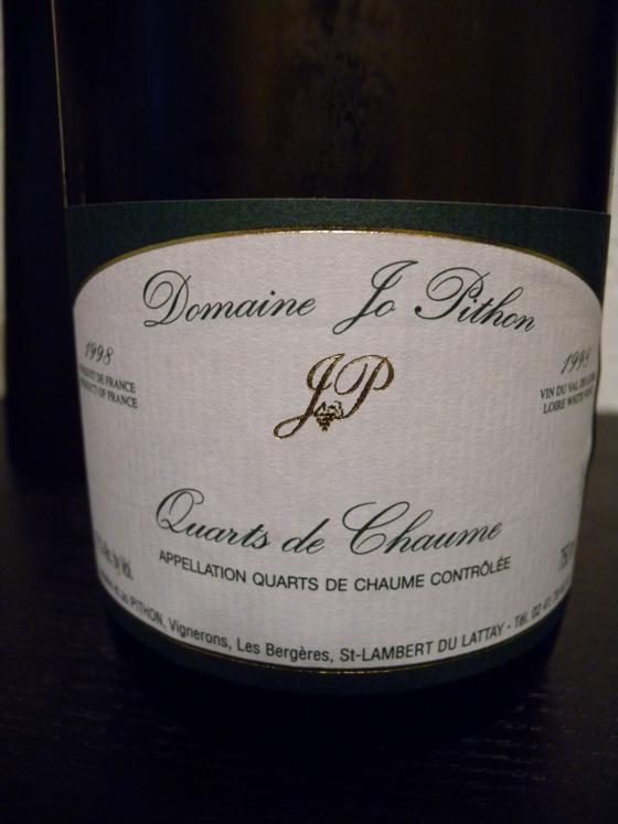 Quarts de Chaume  1998 du domaine Jo Pithon