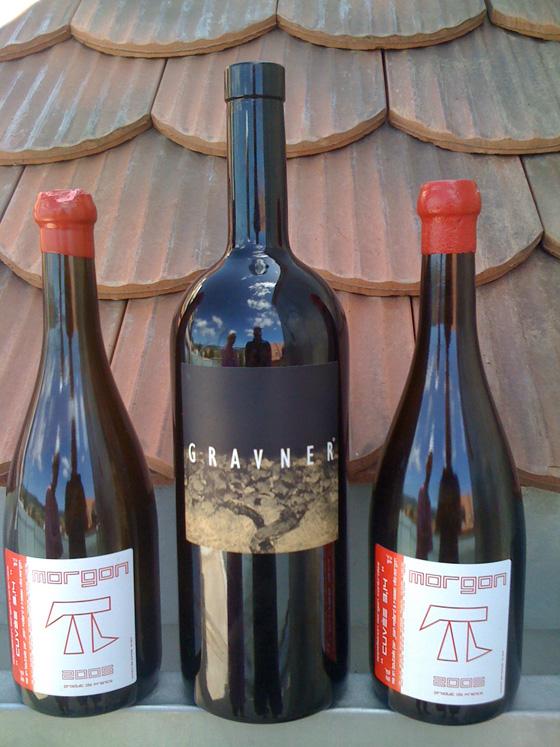 Ribola Gravner 1999 et 2 bouteilles de Morgon cuvée 3-14 de Jean foillard 2005