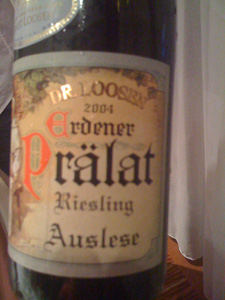 Riesling Auslese 2004 du Dr Loosen
