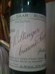 Riesling Spätlese 11 2002 d'Egon Müller