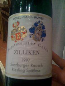 Riesling Spätlese 1997 de Zilliken