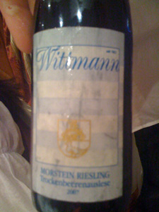 Riesling TBA 2007 de Wittman