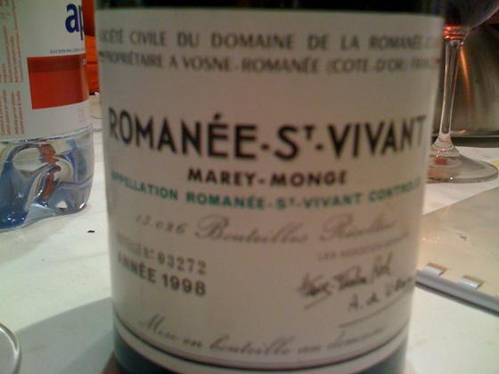 Romanée St-Vivant Marey-monge 1998 de la Romanée Conti