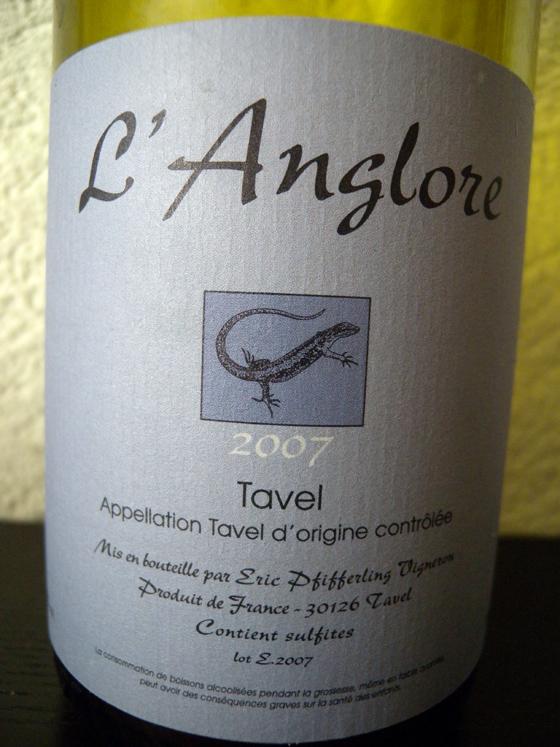 Rosé l'Anglore 2007 d'Eric Pfifferling à Tavel