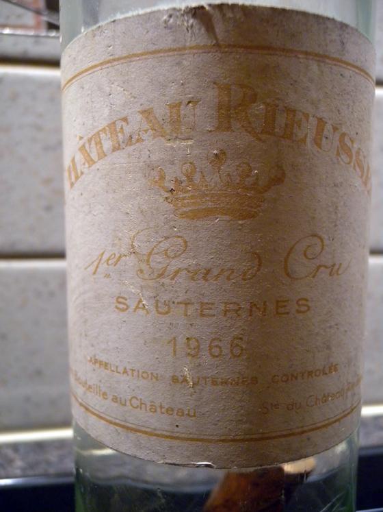 Sauternes Château Rieussec 1966