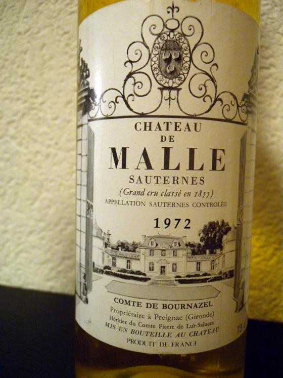 Sauternes Château de Malle 1972