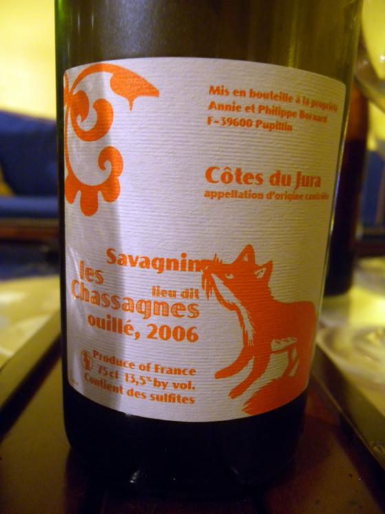 Savagnin ouillé Les Chassagnes 2006 de Philippe Bornard