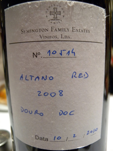 Symington Family Estates Altano red 2008