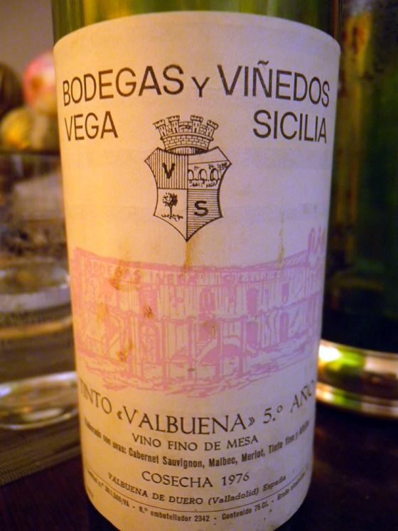Valbuena 5 año Cosecha 1976 de Vega Sicilia