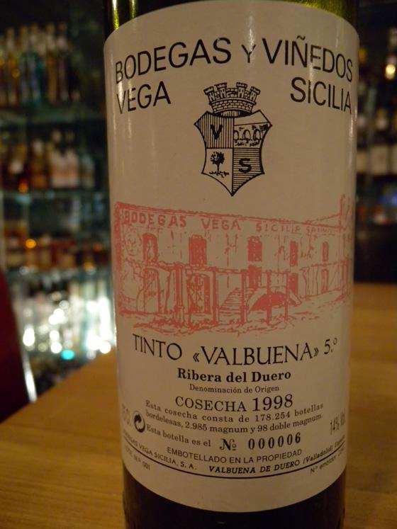 Vega Sicilia Valbuena 5° 1998