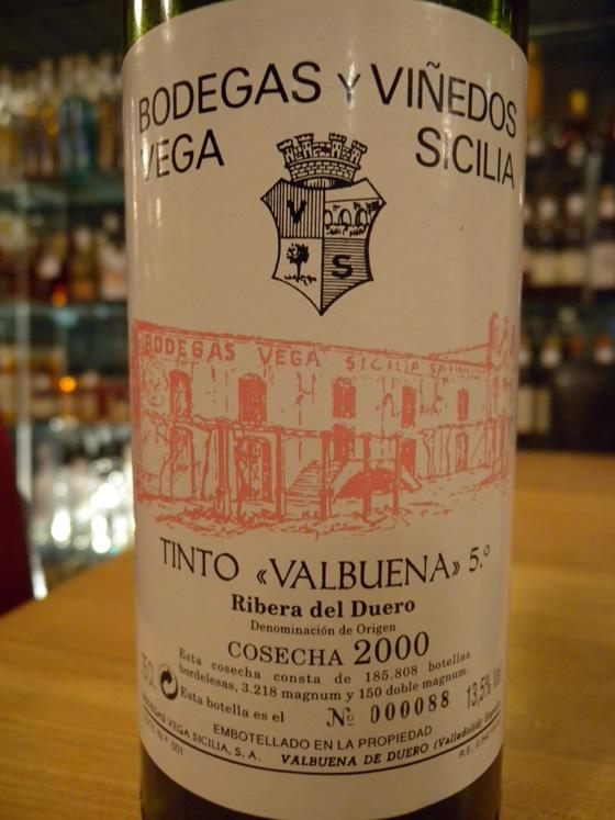 Vega Sicilia Valbuena 5° 2000