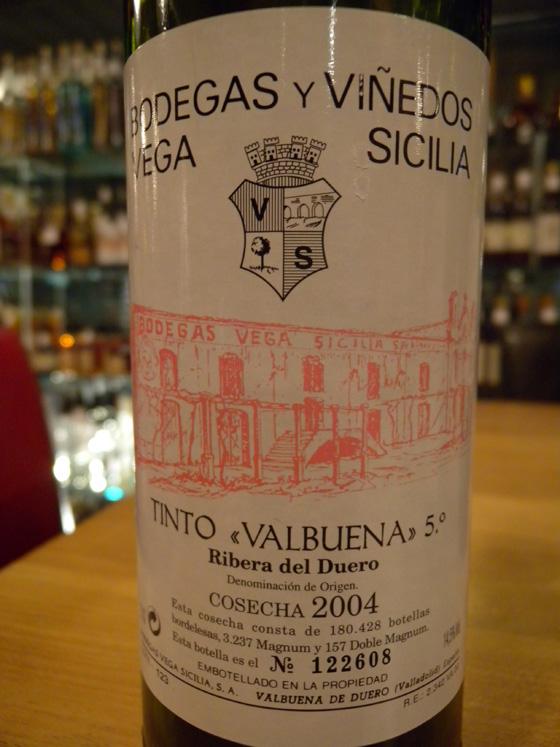 Vega Sicilia Valbuena 5° 2004