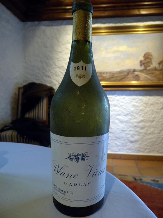 Vieux blanc d'Arlay 1911 du Domaine Bourdy