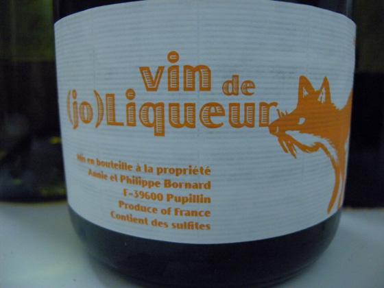 Vin de (jo)Liqueur de Philippe Bornard