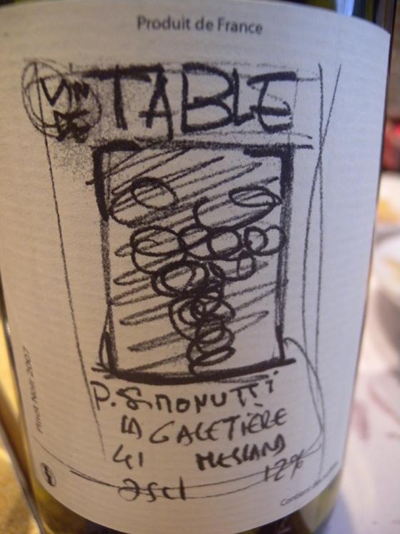 Vin de table de Loire La Galetière 2007 de Simonutti